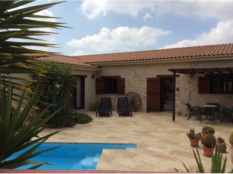 Stunning 4 Bedroom Bungalow For Sale in Spitali Village near Limassol Cyprus